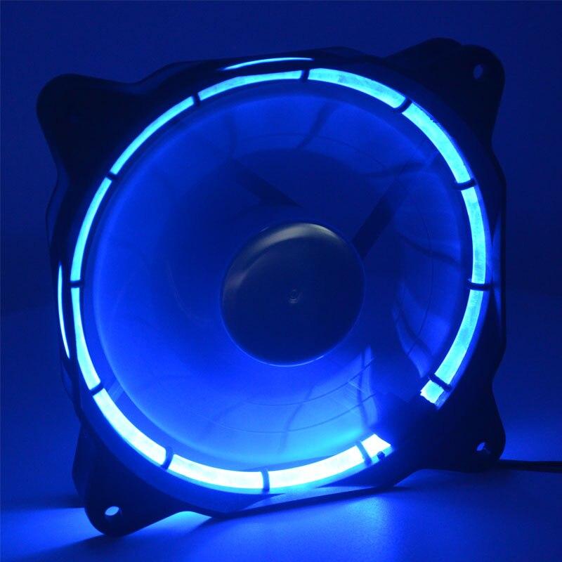 Вентилятор для компьютера, 12 см, 120 мм, синий светодиодный вентилятор, 12025 постоянного тока, 12 В, 0,14 А, 900 об/мин, тихий, с солнечным затмением, вентилятор охлаждения|Кулеры/вентиляторы/системы охлаждения|   | АлиЭкспресс