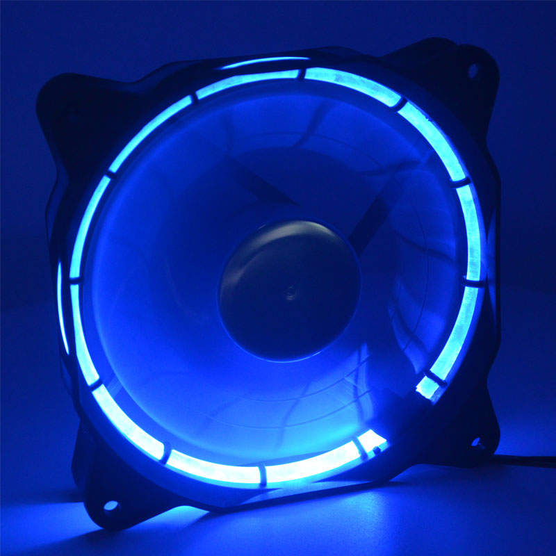 12cm Computer Water Cooling System  120mm Blue LED Fan 12025 DC 12V 0.14A 900RPM Silent Quiet Solar Eclipse Chassis Cooling Fan