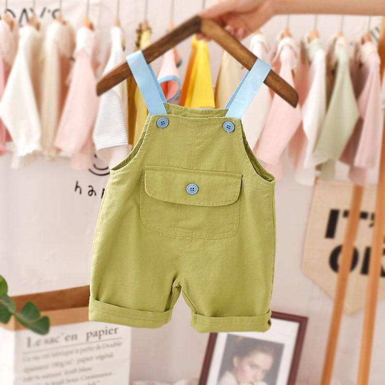 Children's pants overalls 2021 new summer Korean baby shorts P4425