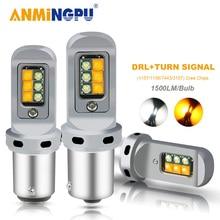 ANMINGPU 2x Signal Lamp 1500LM 1156 Led BA15S P21W BAU15S PY21W Bulb 1157 Bay15d Led T20 7443 W21/5W 3157 Turn Signal DRL Light