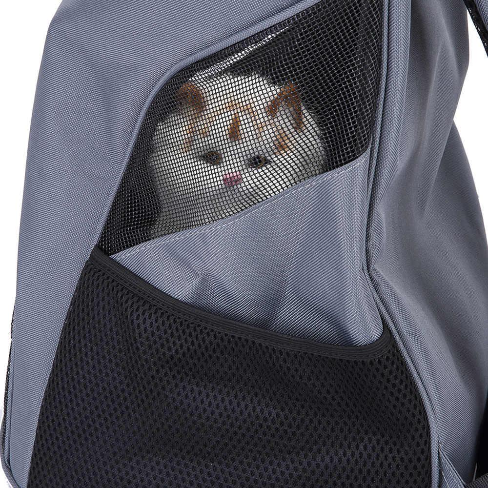 Gato portador de ombro saco pet transportadora mochila com capuz respirável cabeça para fora saco pet travel carrier para pequeno cão gato pet produto