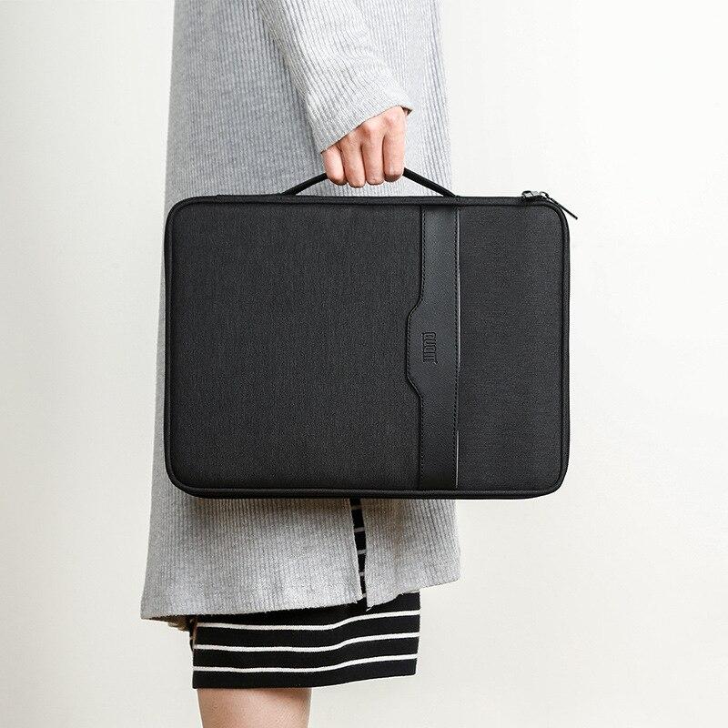A4 Canvas File Folder Multifunctional Document Handbag Document Conference Document Organizing Bag Office Storage Stationery