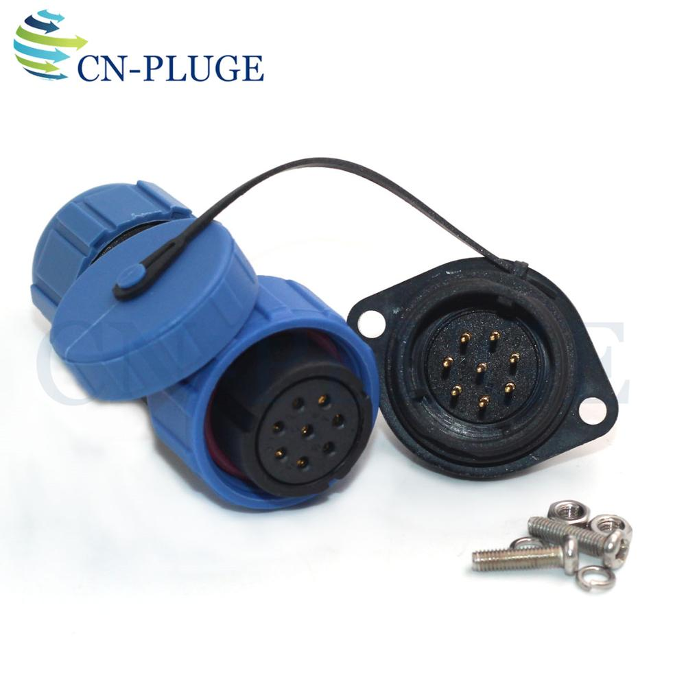 SP21 8 Pin Circular Waterproof Aviation Connector for LED Lighting Equipment