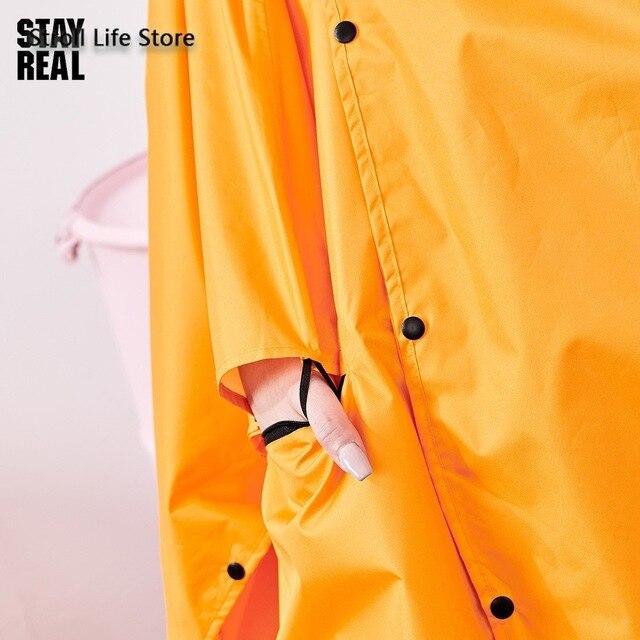 Yellow Rain Poncho Raincoat Women Cute Orange Waterproof Poncho Rain Coat Jacket Hiking Impremiable Motorcycle Raincoat Gift 3