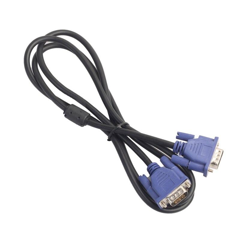 1,35 m/3/5/10m VGA 15 Pin Удлинительный кабель со штыревыми соединителями на обоих концах для подключения к кабель для портативных ПК проектор HDTV