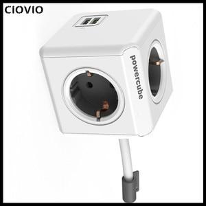 Image 5 - Ciovio Với Dây Nhà Thông Minh Power Cube Ổ Cắm Ciovio Adapter Dán Cường Lực Đa Chuyển Ổ Cắm