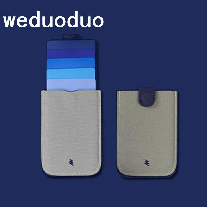 2020 New Arrival DAX V2 Mini Slim Portable Card Holders Pulled Design Men Wallet Gradient Color 5 Cards Money Short Women Purse