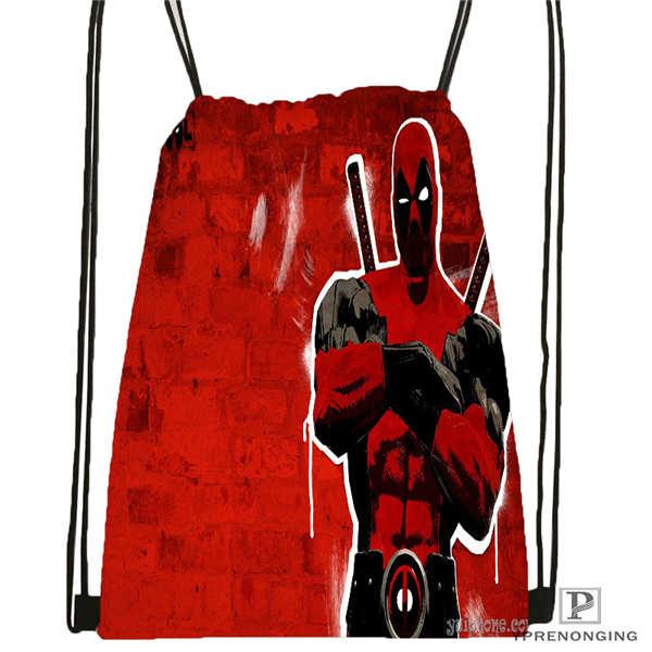 Custom Marvel_deadpool_movie-  Drawstring Backpack Bag Cute Daypack Kids Satchel (Black Back) 31x40cm#2018612-02-11
