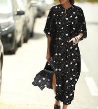 Czarny nadruk gwiazdy koszula plażowa sukienka sukienki w paski Pareo tunika Kaftan plaża kieszeń szata Plage odzież plażowa kobiety Casual Dresss tanie tanio sunforyou CN (pochodzenie) Lato Poliester W każdym wieku 35-45 lat Młody styl Czeski