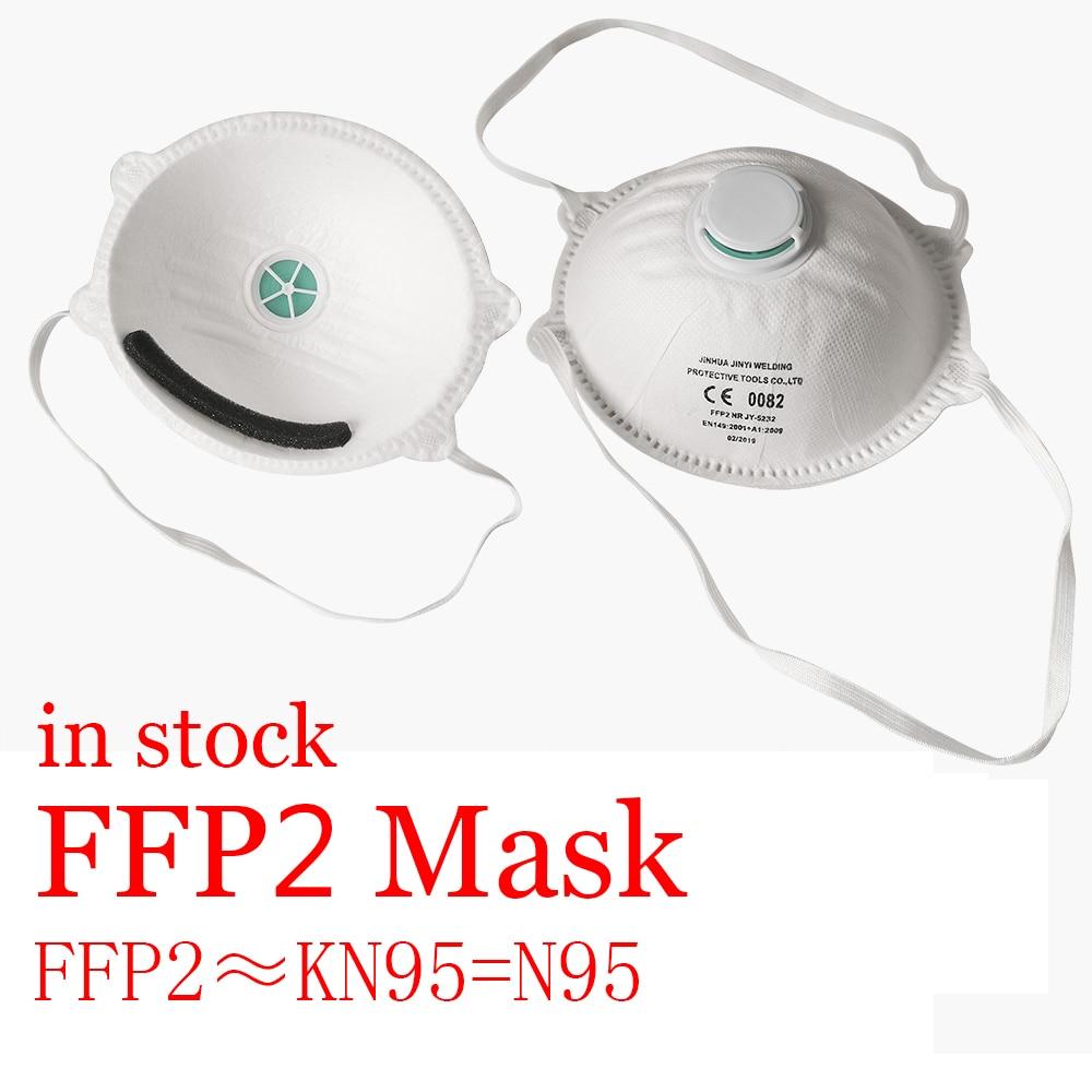 FFP2 Mask Air Valve KN95 N95 KF94 Korea Mouth Face Gas Maska Conora Masks Against Virus Influenza PM2.5 Prevention Filtration