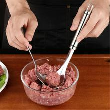 ZLCA Non-Stick Creative Meatball Maker Stainless Steel Kitchen Meat Ball Mold Spoon Kitchen Gadget Meat Tools non stick meat baller spoon with long handle stainless steel meatball maker press meatball scoops meat ball maker kitchen tool