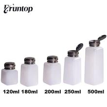 1PCS 120/180/ 200/ 250/ 500ML White Empty Alcohol Liquid Pumping Dispenser Bottle for Phone Repair Glue Remover Liquids