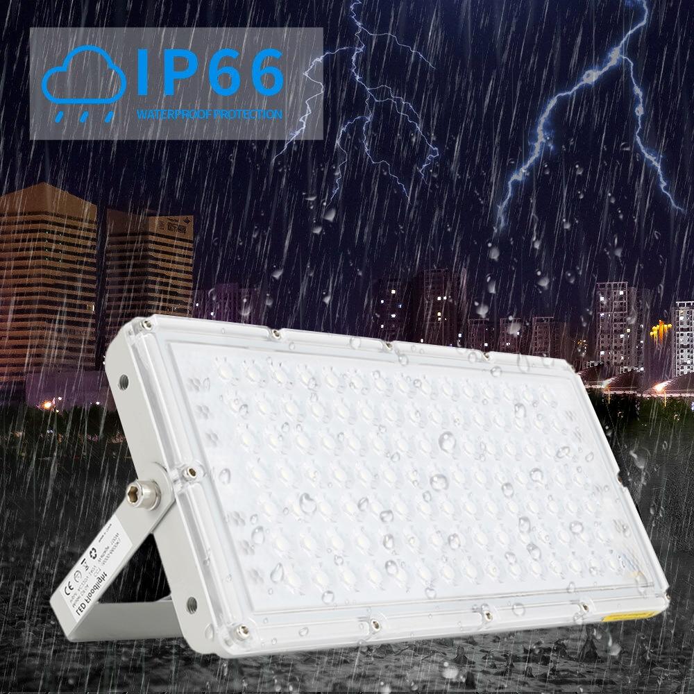 LED Modular Waterproof Flood Light 100W 220V 6500K Cool White Spotlight Outdoor Lighting Garden Light Outdoor Floodlights