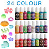 24 Colors/Set Epoxy Resin Pigment Kit Liquid Epoxy UV Resin Coloring Colorant Dye for DIY Dying Resin Candle Soap Making Crafts
