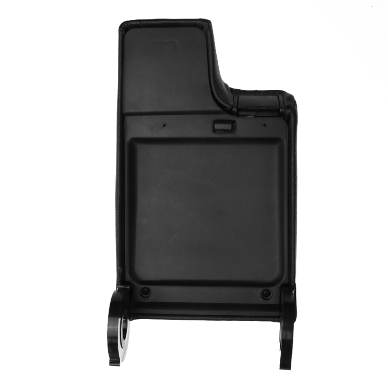 Black PU Leather Armrest Center Console Lid Cover Storage Box For BMW E46 99-04