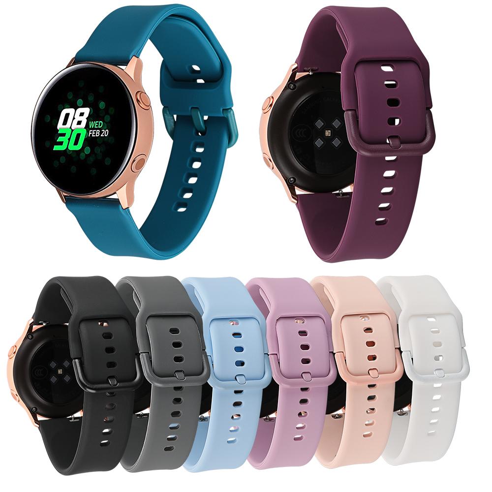 20MM  Watch Band for Samsung Galaxy Watch 42mm/Gear Sport/Garmin Vivoactive 3/Vivoactive 3 Music/Forerunner 645 Silicone Strap
