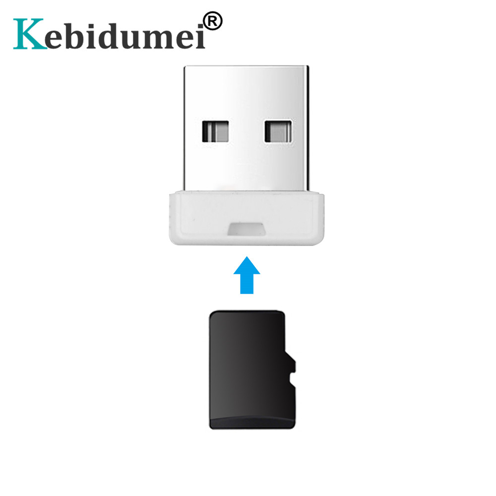 Kebidumei Computer USB 2.0 Micro SD Card Reader For Laptop TF Flash Memory Card Reader Mini Adapter