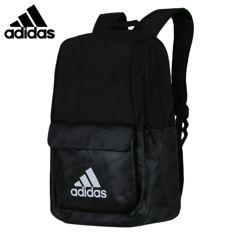 Original  Adidas CL LOGO Unisex Backpacks Black Sports Training Bags Computer Package DM2897
