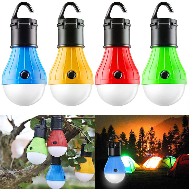 Portable LED Tent Light Outdoor Camping Light Bulbs Lantern Bulb Survival Tool Camping Equipment For Hiking Backpacking Fishing
