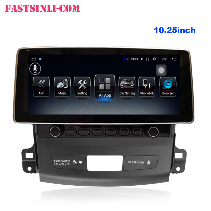 Android8.1 Multimedia Player Car GPS For MITSUBISHI Outlander 2006-2011 Player Radio 9inch 2.5D Glass