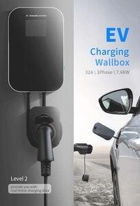 Image 2 - Elektrikli araç şarjı evreli Wallbox Wifi elektrikli araç şarj istasyonu uygulaması ile tip 2 soket 32A 1 fazlı IEC 62196 2 audi BMW için