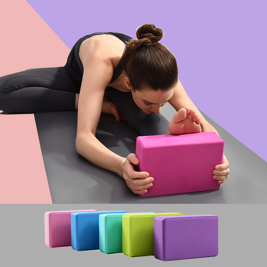 Block-Set Brick Fitness-Training-Block Exercise Stretching Yoga-Bolster Workout Pilates