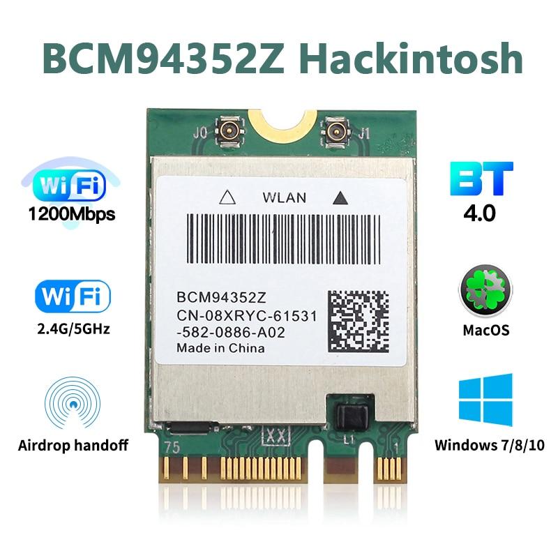Wireless 1200mbps 2 4g 5g Bcm94352z Dw1560 Hackintosh Wifi Macos Bluetooth 4 0 M 2 Wifi Adapter 802 11ac Ngff Network Card Network Cards Aliexpress