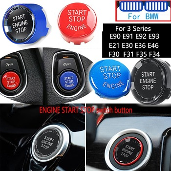 Crystal Car Engine Start Stop Switch Button Replace Cover For BMW 3 Series E90 E91 E92 E93 E21 E30 E36 E46 F30 F31 F35 F34 image