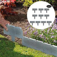 10 шт клумба забор из искусственного камня пресс форм садовое