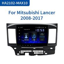 """Dasaita 10.2 """"lecteur GPS de voiture Android 10 pour Mitsubishi Lancer 10 EVO avec 4G 64G Octa Core Auto stéréo Navi Radio multimédia"""