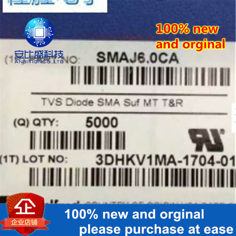 50pcs 100% New And Orginal  SMAJ6.0CA DO214AC  Silk-screen WG  In Stock