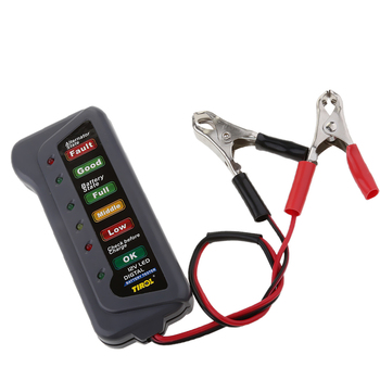 12V Car Motorcycles Battery Load Tester Meters Analyzer LED Display image