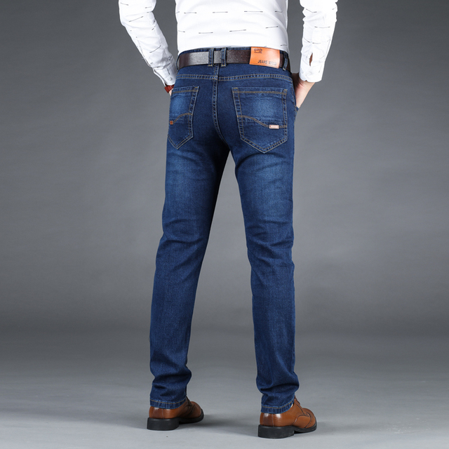 Business Style Slim fit Straight Jeans  2