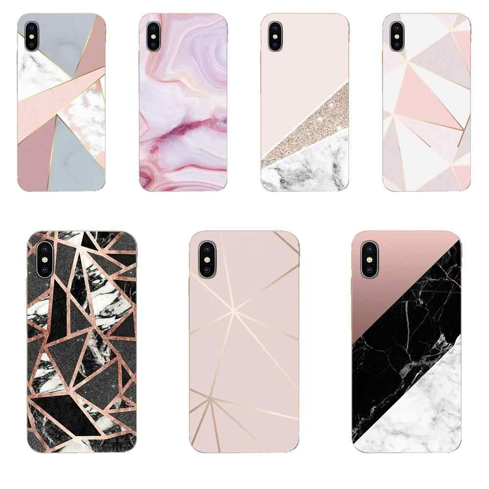 Gold Pink Rose Glitter Marble For Huawei P7 P8 P9 P10 P20 P30 Lite Mini Plus Pro Y9 Prime P Smart Z 2018 2019 Covers Ultra Thin