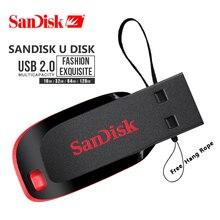 本サンディスククルーザーフィット CZ50 USB フラッシュドライブ 128 ギガバイト 64 ギガバイト 32 ギガバイトの USB 2.0 ペンドライブメモリスティックミニペンドライブ 16 ギガバイト 8 ギガバイト U ディスク