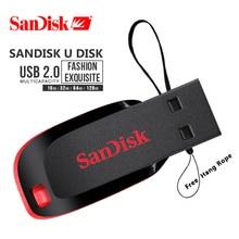 Genuína Cruzer SanDisk Ajuste CZ50 USB Flash Drive 128GB GB 32 64GB USB 2.0 memory stick pen drive mini Pen Drives 16GB 8GB de disco U