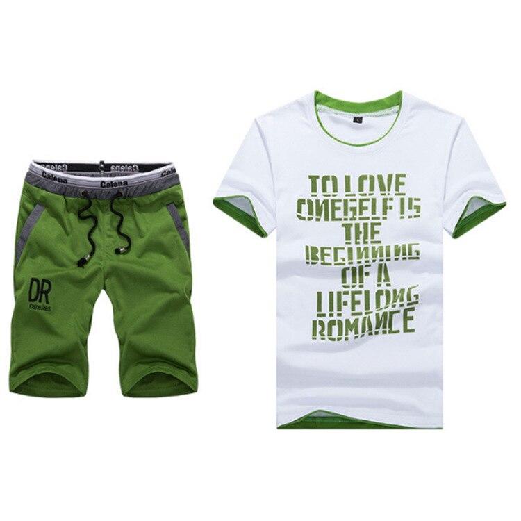 2018 Summer Short-sleeved Set Men Thin Sports Clothing Casual Running Shorts T-shirt Large Size Athletic Clothing 5XL