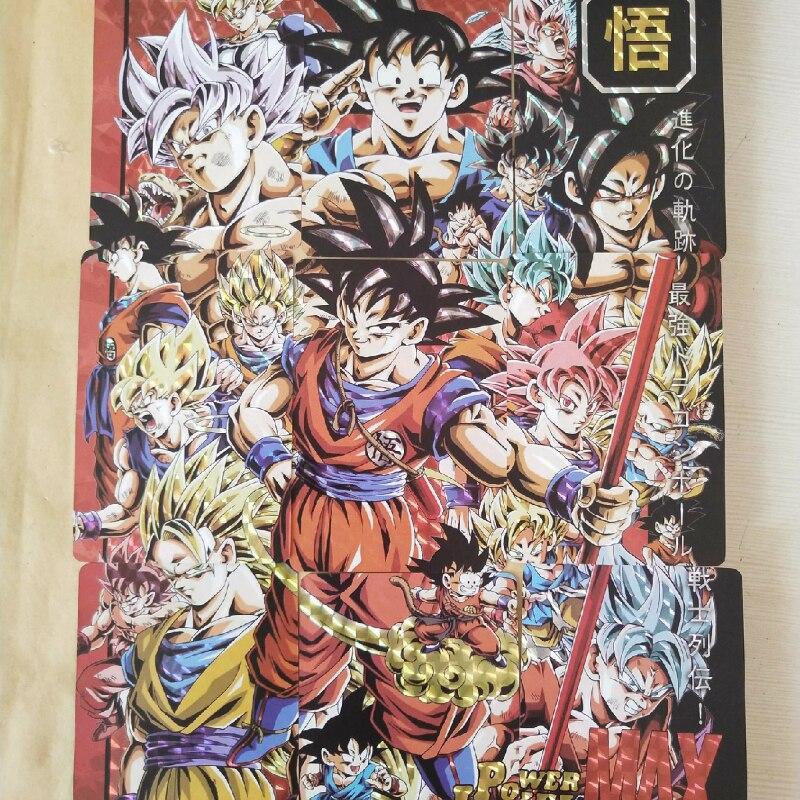 54pcs/set 9 In 1 Super Dragon Ball Z Heroes Battle Card Ultra Instinct Goku Vegeta Super Game Collection Cards Free Shipping