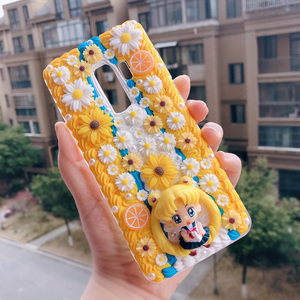 Image 5 - For iphone X/XS Max DIY case 3D sailor moon phone cover for iphone 8 7 6 6s plus XR handmade cream candy flower case girl gift