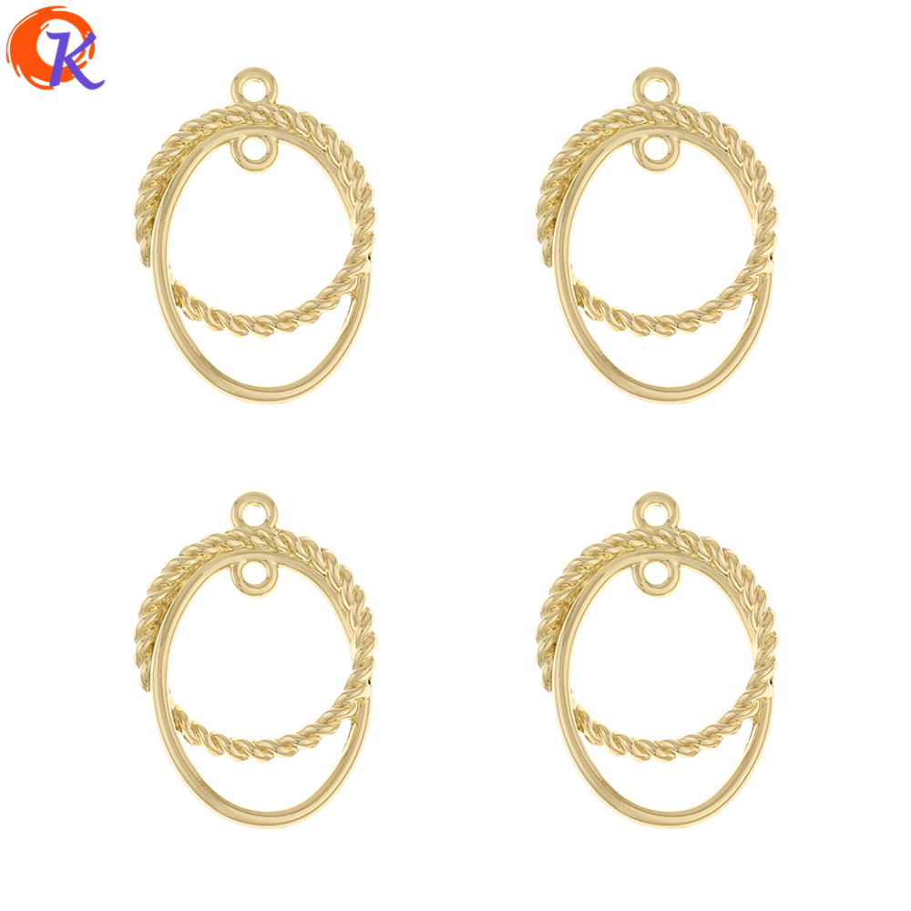 Cordial Design 100Pcs 22*31MM Jewelry Accessories/DIY Earrings Connectors/loop Shape/Jewelry Making/Hand Made/Earring Findings