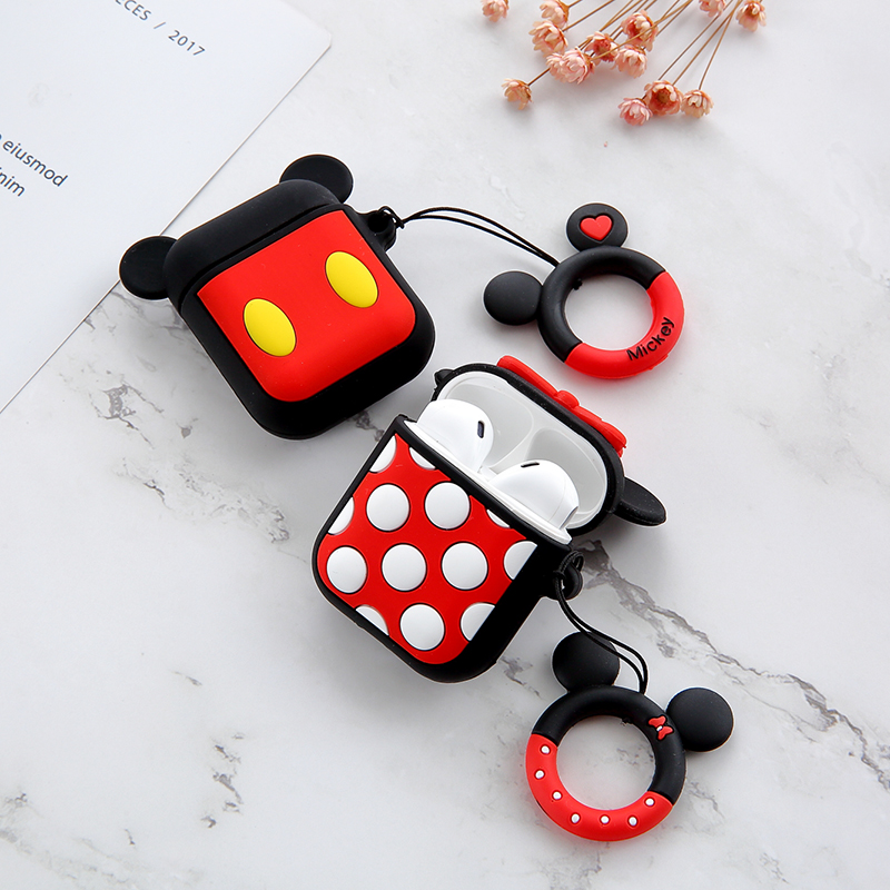 Image 5 - For Airpods 2 Case Silicone Stitch Cartoon Cover For Apple Airpods Case Cute Earphone 3D Headphone case For Earpods Christmas-in Earphone Accessories from Consumer Electronics