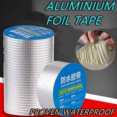 Алюминиевая фольга, Бутилкаучуковая лента, очень устойчивая к высоким температурам, водонепроницаемая самоклеящаяся лента для ремонта кро...