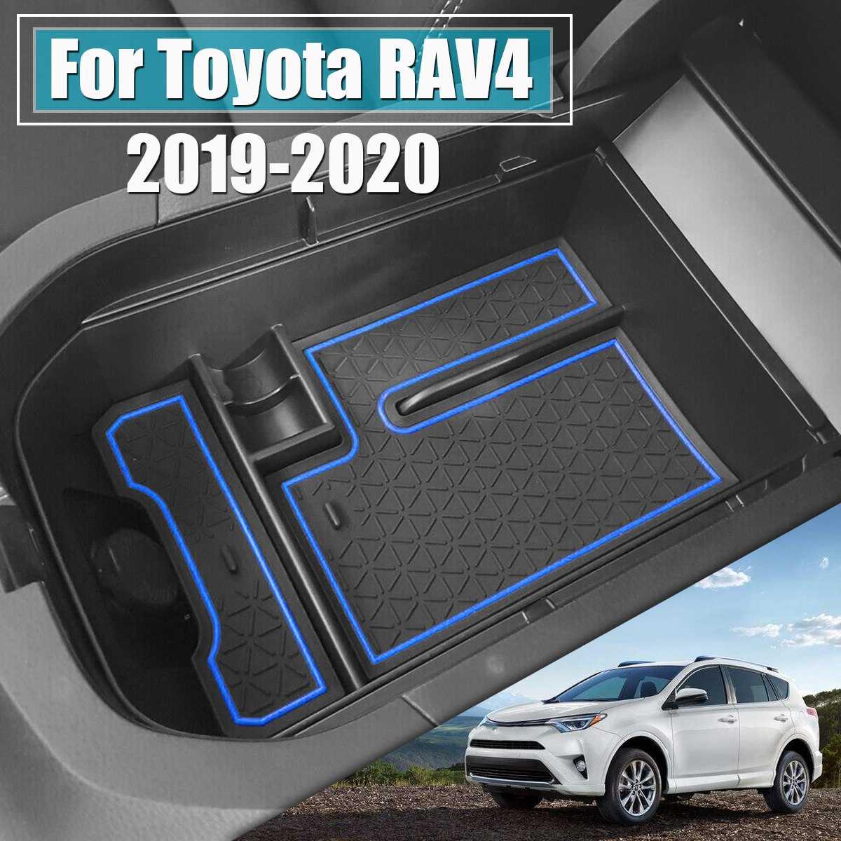Car Center Console Armrest Storage Box Organizer Tray For Toyota RAV4 2019 2020 Bin Glove Tray Holder Case Car Stowing Tidying