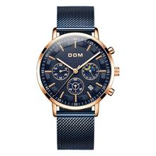 Relojes 2018 Watch Men DOM Fashion Sport Quartz Clock Mens Watches Top Brand Luxury Business Waterproof Watch Relogio Masculino