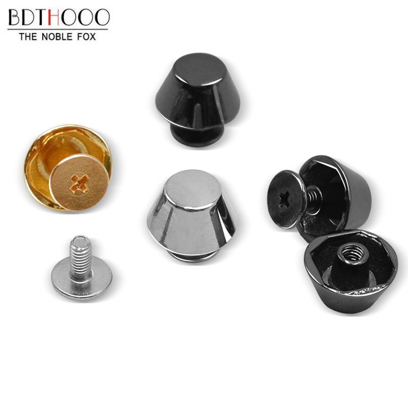 11mm 13mm 10pcs DIY Bags Bottom Studs Rivets Screw Luggage Leather Metal Craft Solid Screw Shoulder Bags Accessories