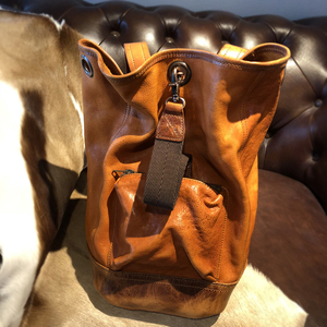 Vegetable tanned leather men's