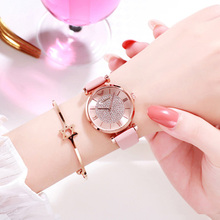 New Women Watches Fashion Women Pink Leather Quartz Clock Luxury Diamond Ladies Dress Wristwatches Waterproof Watch reloj mujer цена