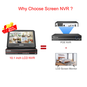 Image 5 - Techage 8CH 1080P LCD ekran monitör POE NVR kiti CCTV sistemi 2MP HD açık güvenlik ses IP kamera P2P video gözetleme seti