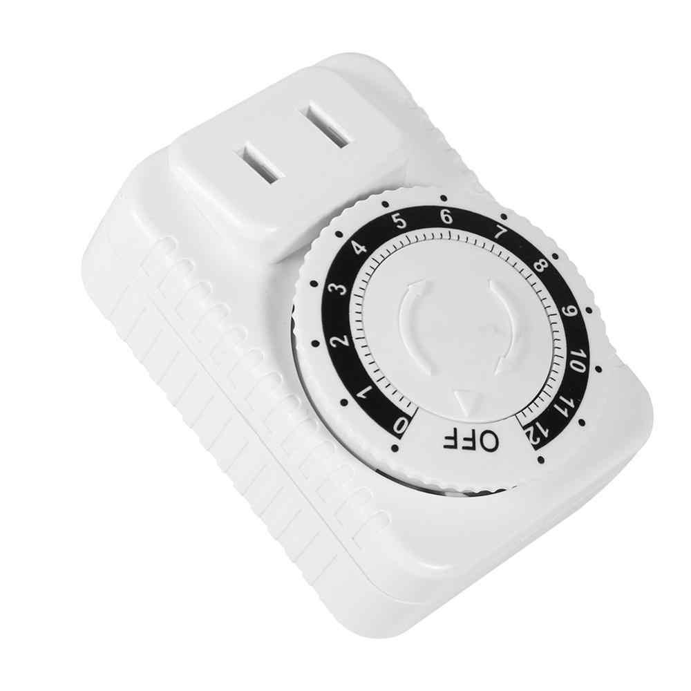 12 godzin elektryczny mechaniczny włącznik ścienny cyfrowy zegar odliczjący programator czasowy przełącznik zasilania gniazdo oszczędzanie energii temporizado