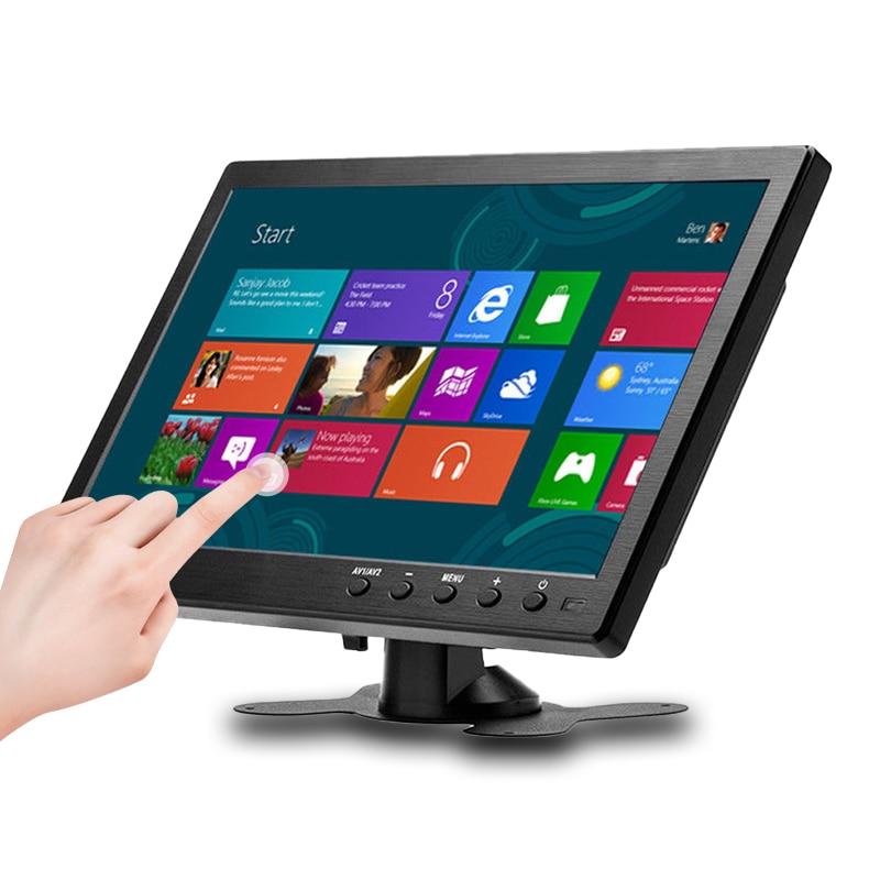Портативный монитор 10,1 дюйма 1366x768 с VGA HDMI BNC USB-входом для PS3/PS4 XBOX360 Raspberry Pi Windows 7 8 10